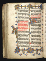 Illuminated Initial And Borders, In 'The Cartulary Of Beverley Minster'